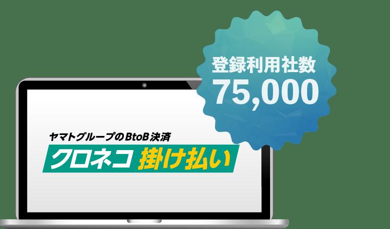 登録利用社数75,000